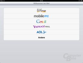 """""""Mail""""-Setup auf dem iPad"""