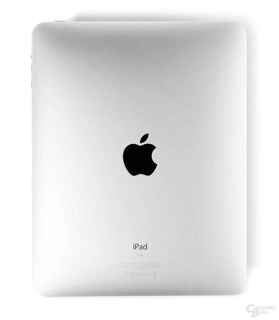 Gebürstetes Alu: Die Rückseite des iPad