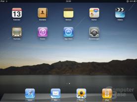 Keine Überraschungen: Die iPad-Oberfläche