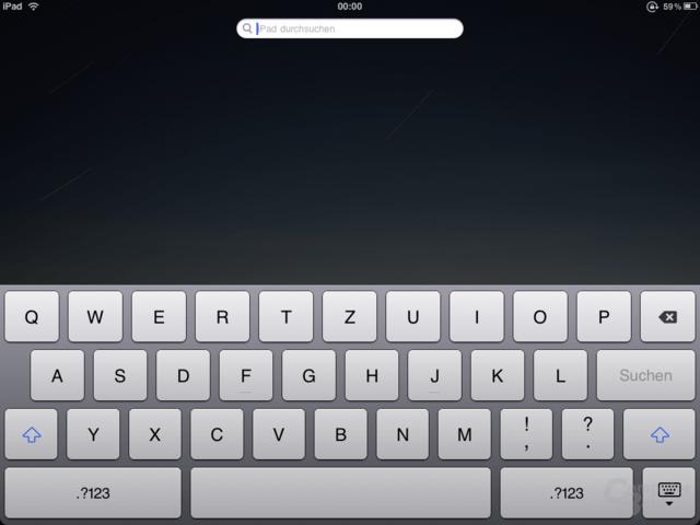 Gelungen: Das iPad-Tastaturlayout