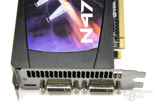 GeForce GTX 470 Anschlüsse