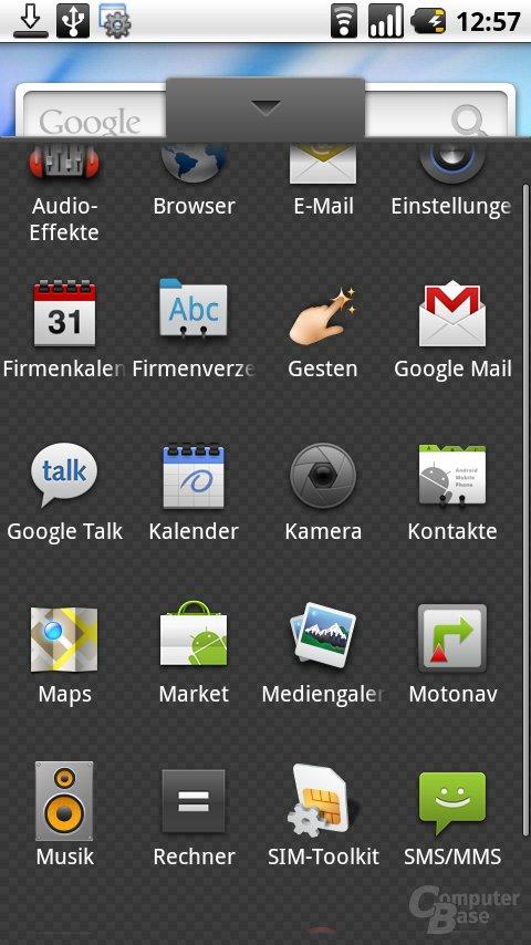 Einige vorinstallierte Apps