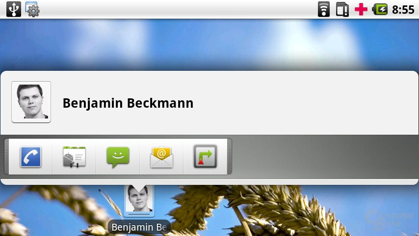 Kontakt-Verknüpfung auf dem Desktop