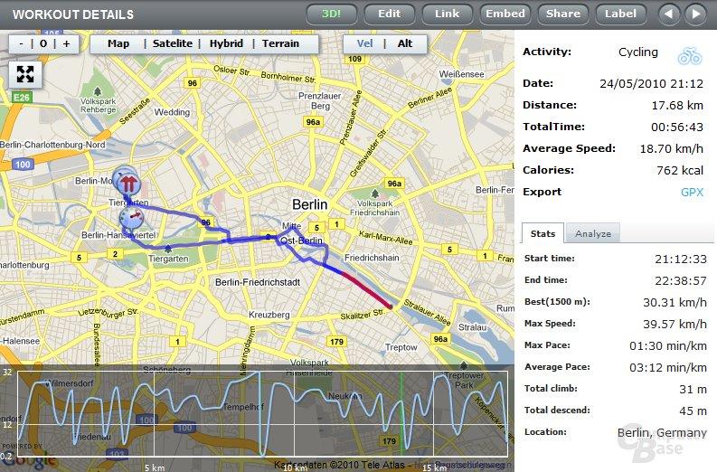 GPS-Aufzeichnung