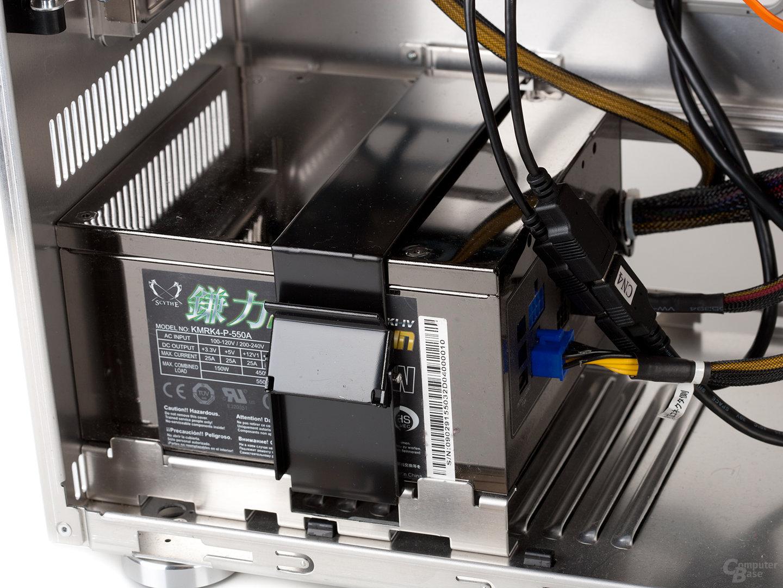 Lian Li PC-A77F – Netzteilbefestigung