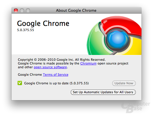 Google Chrome für Mac (final)