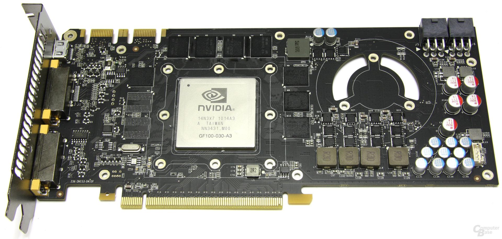 GeForce GTX 465 ohne Kühler