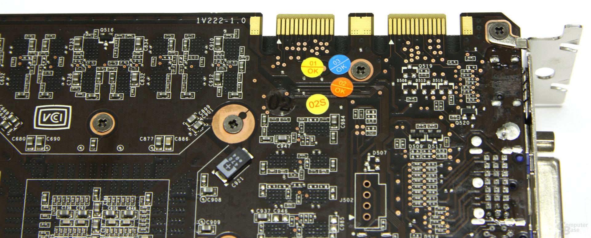 GeForce GTX 465 SLI-Anschlüsse
