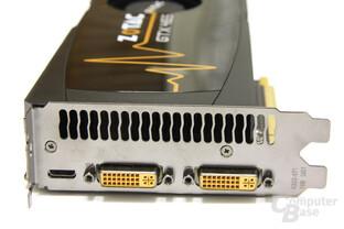 GeForce GTX 465 Slotblech