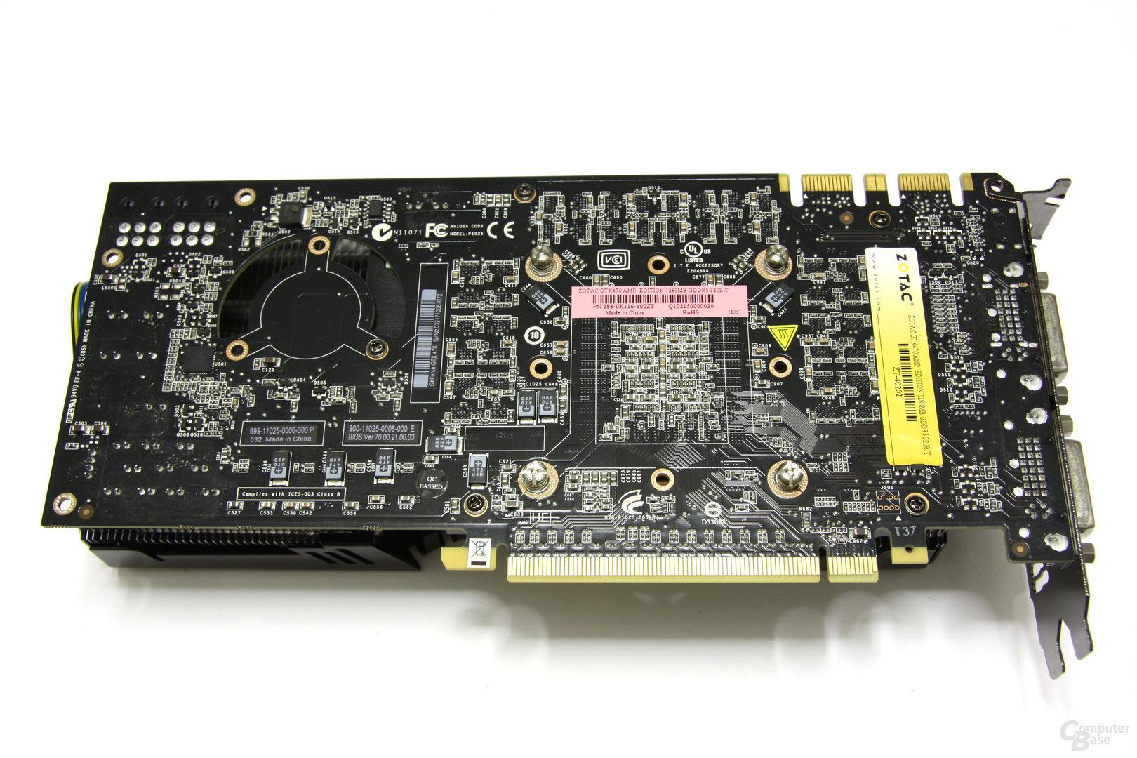 GeForce GTX 470 AMP! Rückseite