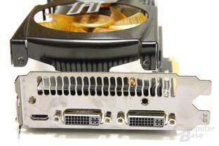 GeForce GTX 470 AMP! Slotblech
