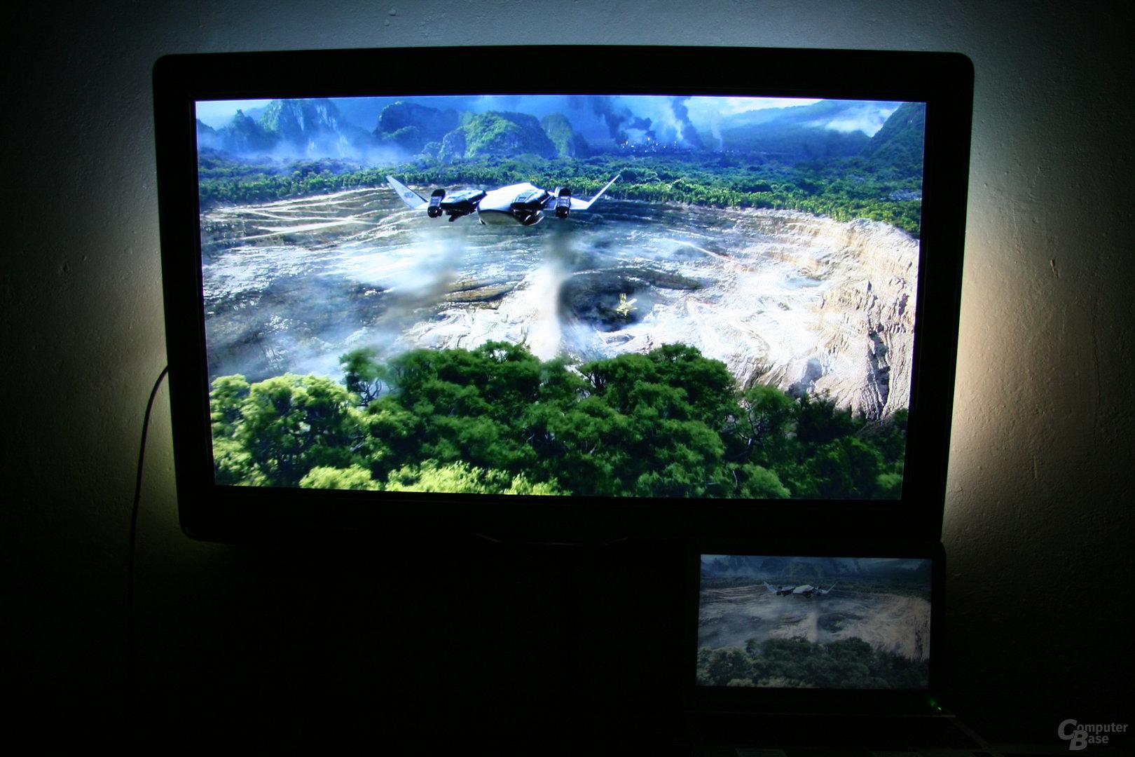 WiDi im Einsatz: Avatar vom Notebook auf TV gelegt