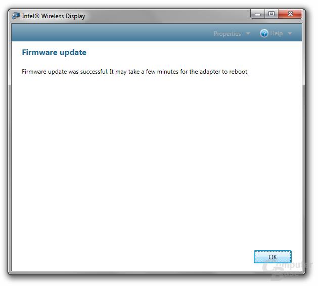 Firmware-Update vollendet