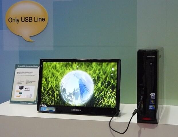 18,5-Zoll-Monitor mit USB-Stromversorgung von Samsung | Quelle: Tech-On!