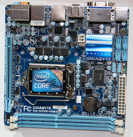 H55-Mainboard von Gigabyte im Mini-ITX-Format