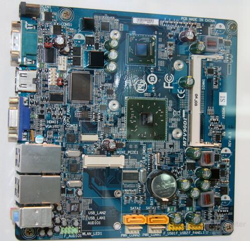 VIA-bestücktes Mainboard von Gigabyte im Mini-ITX-Format