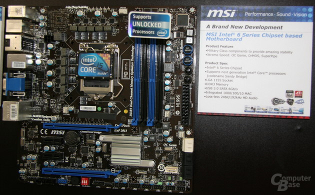 """Sandy Bridge""-Mainboards von MSI"