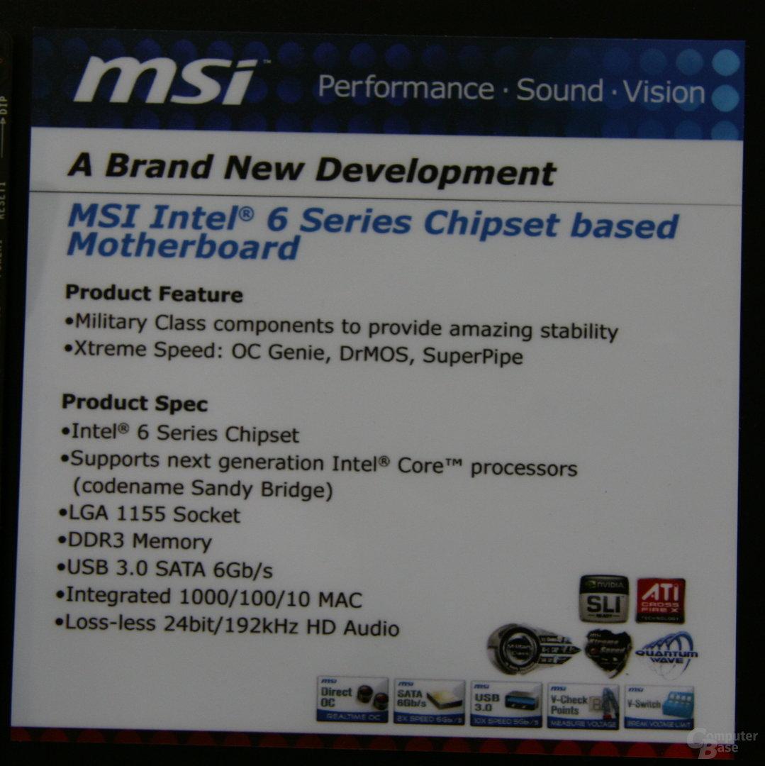 """""""Sandy Bridge""""-Mainboards von MSI"""