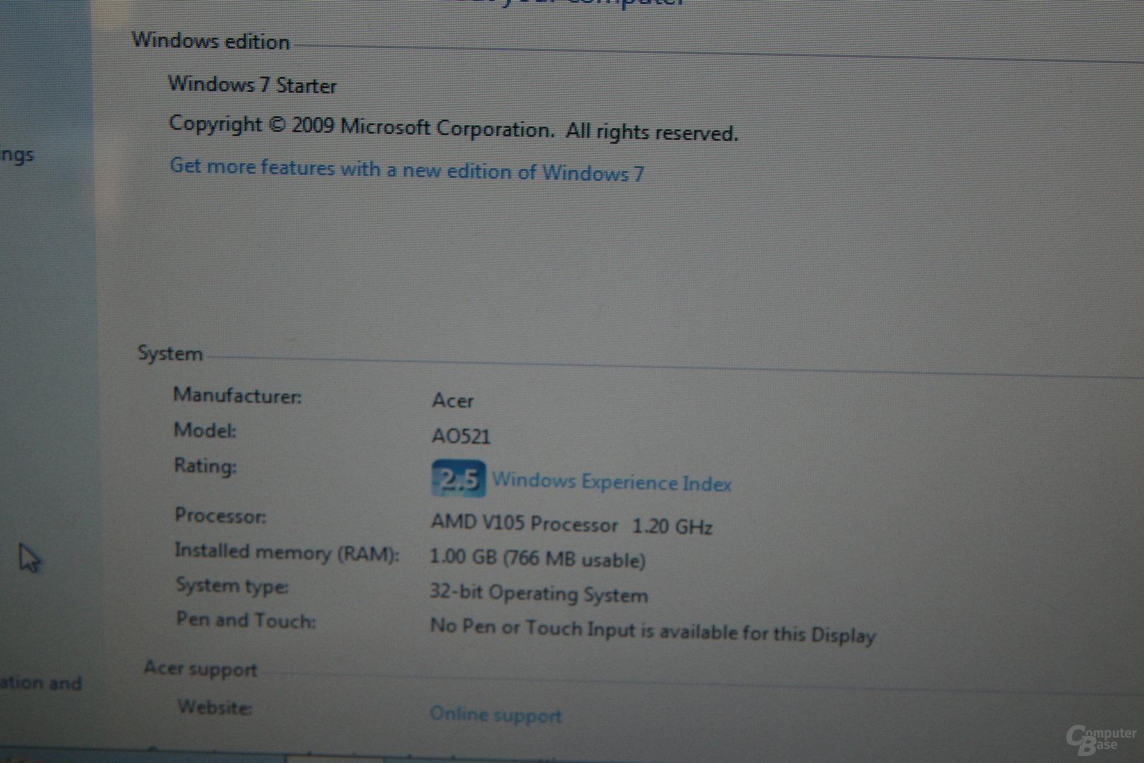 Acer Asprire One 521