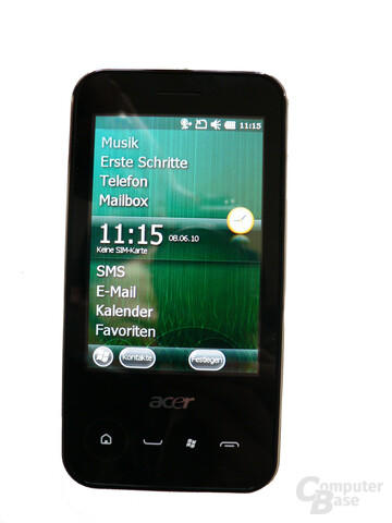 P400: Windows Mobile 6.5.3 Oberfläche