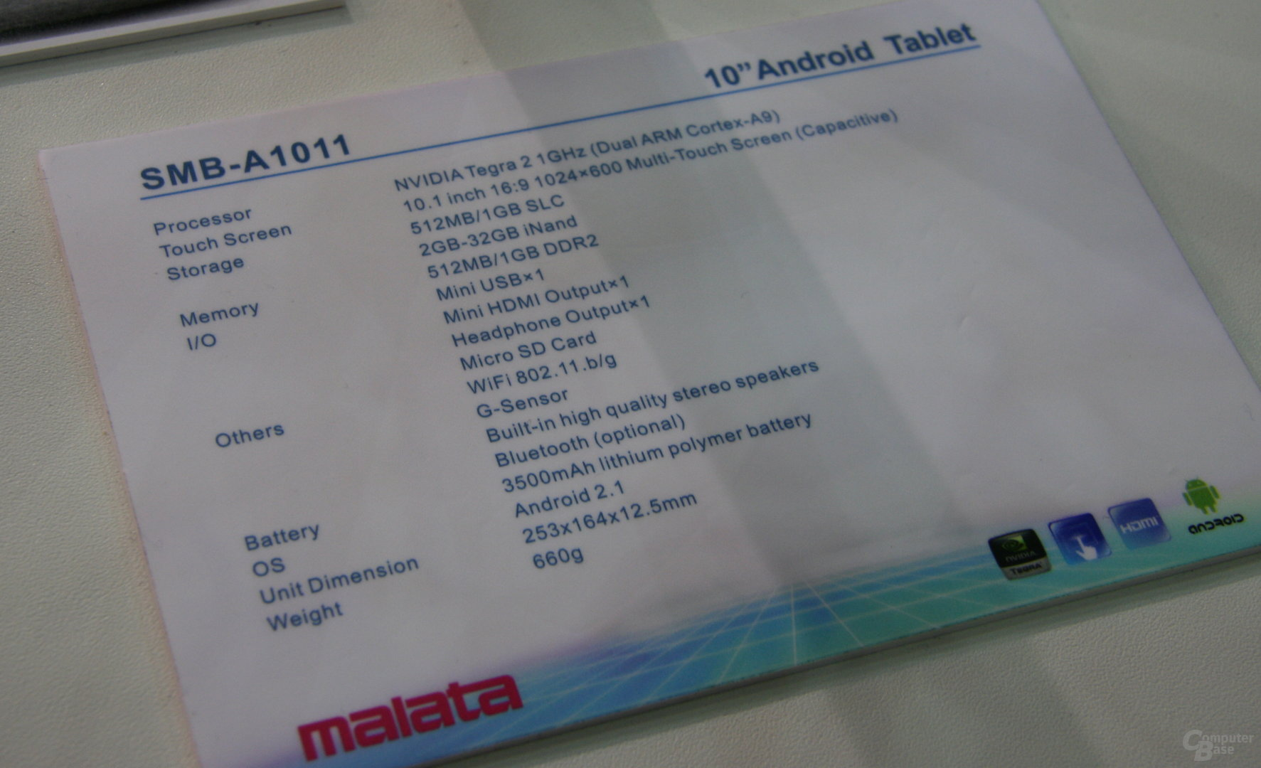 Malata Tablet