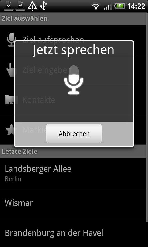 Mikrofon-Symbol zeigt Lautstärke der Spracheingabe an