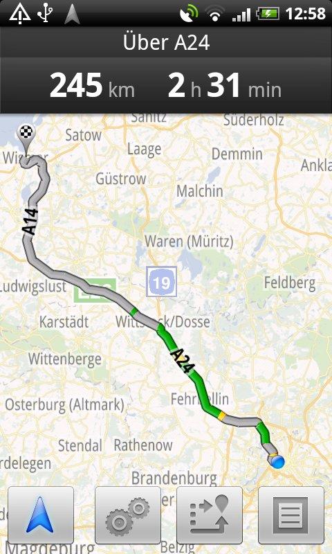 Route nach Wismar