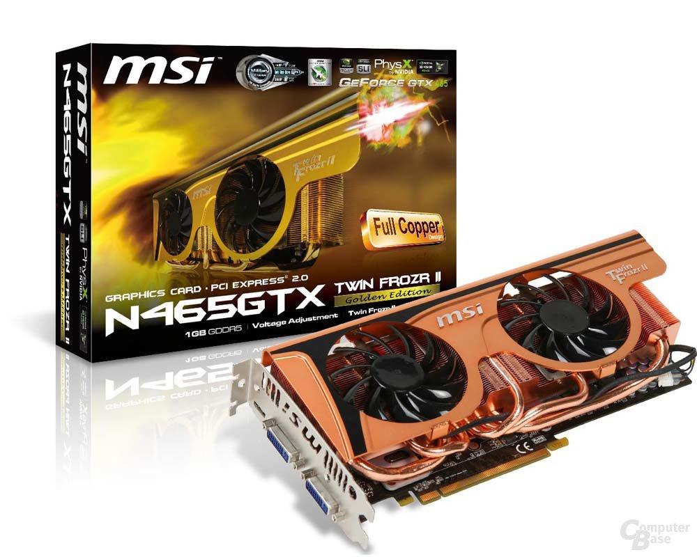 MSI GTX465 Frozr II Golden Edition