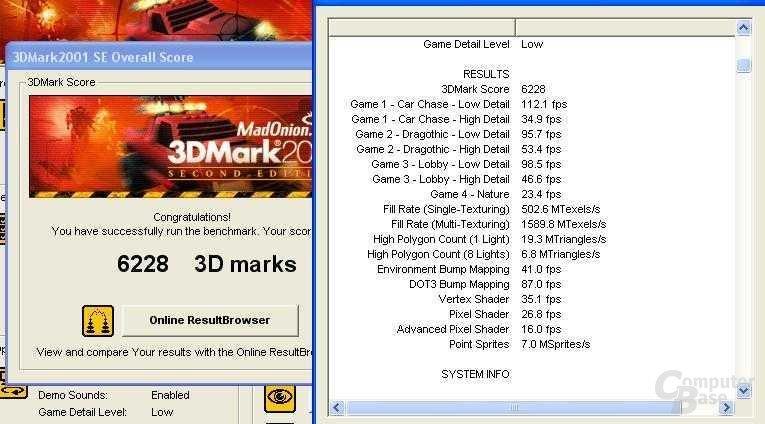Xabre400 auf SiS645-P4 1,8 GHz