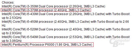 Neue Mobilprozessoren von Intel