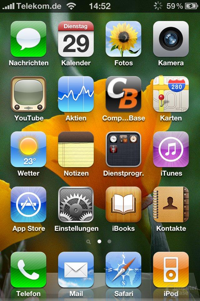 iPhone 4: Home-Screen