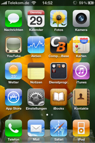 iPhone 4: Home-Screen