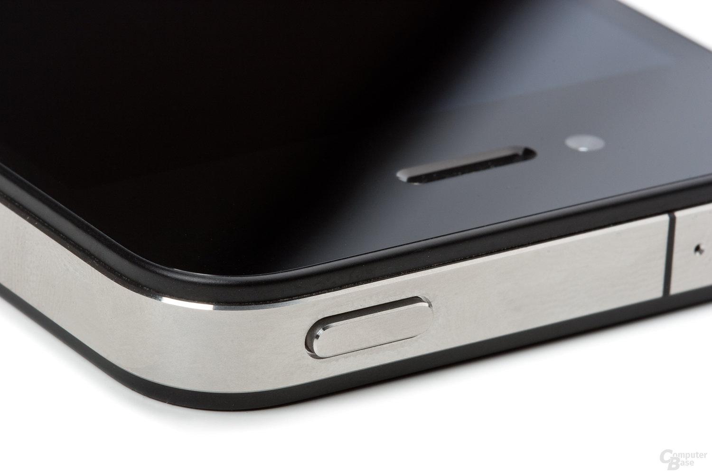 Obere rechte Ecke des iPhone 4