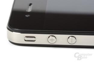 iPhone 4: Lautstärketasten und Ton-Aus-Schalter