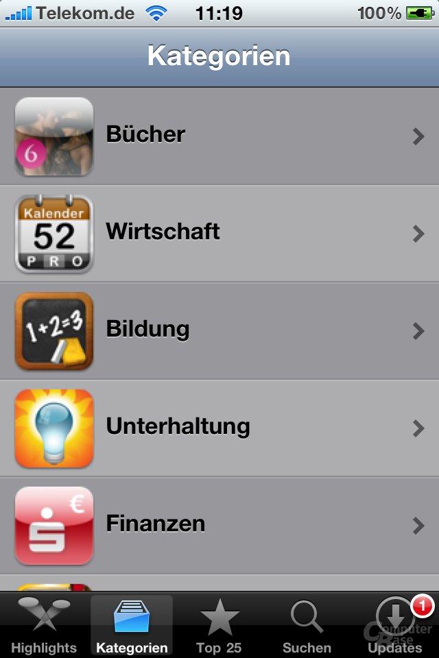 iPhone 4: App Store
