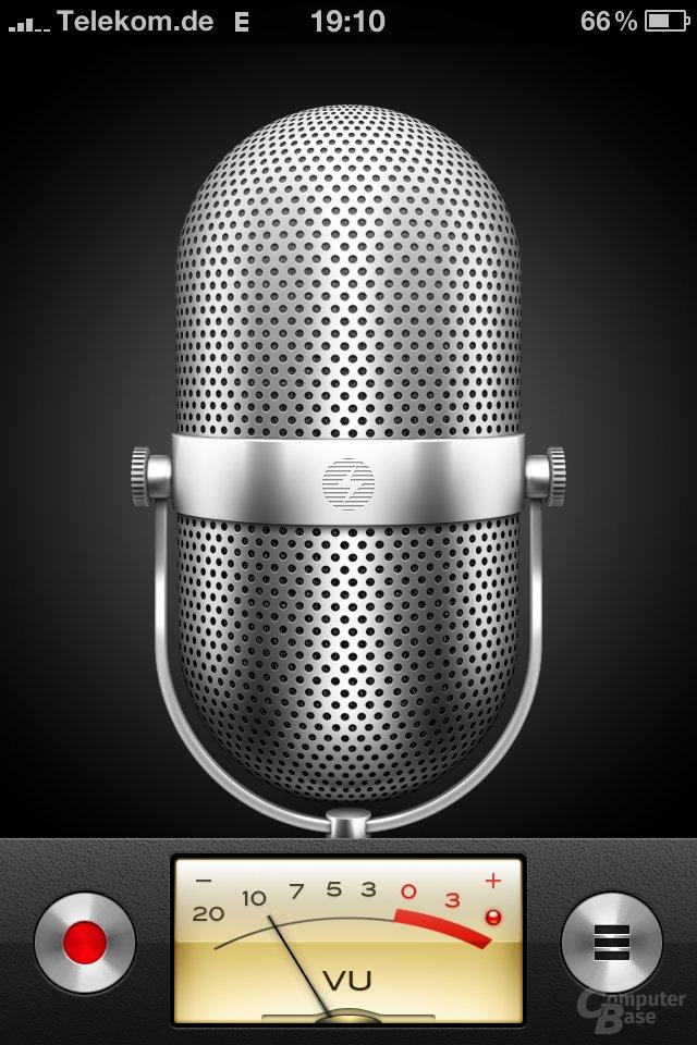 iPhone 4: Sprachmemos