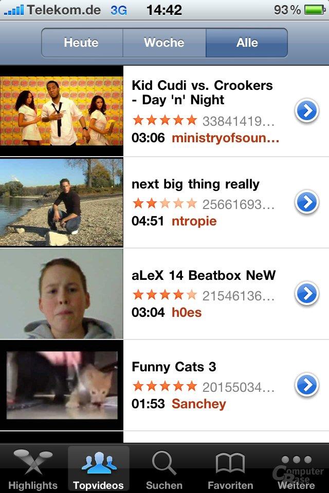 iPhone 4: YouTube
