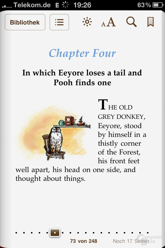 iPhone 4: Buch in iBooks lesen