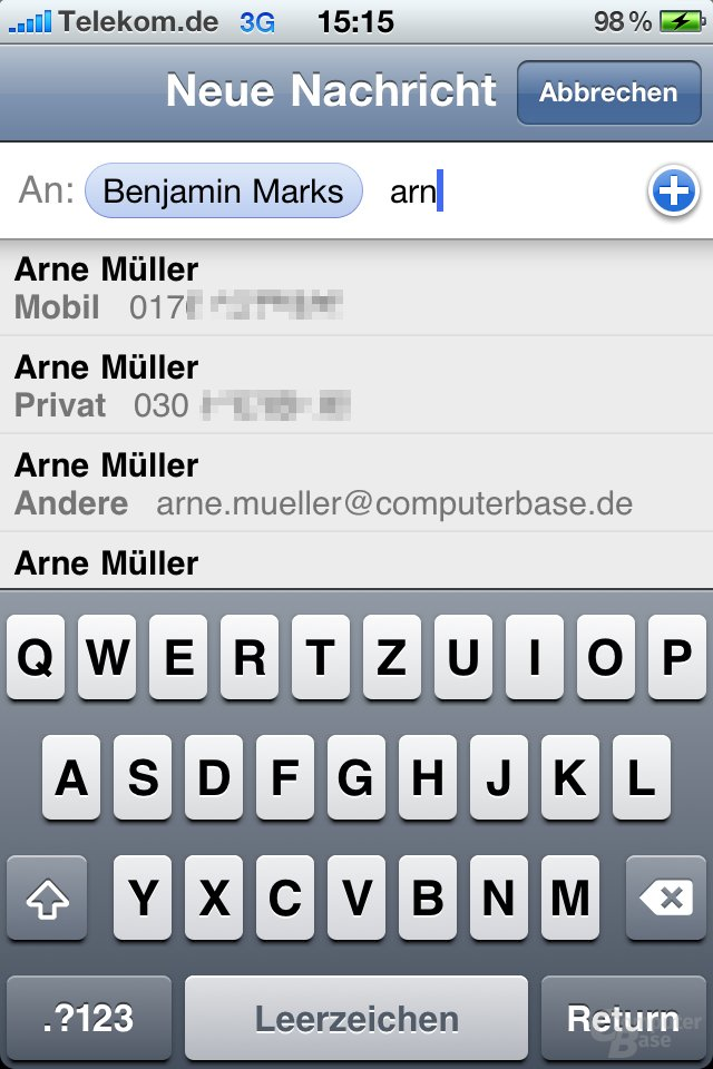 iPhone 4: SMS