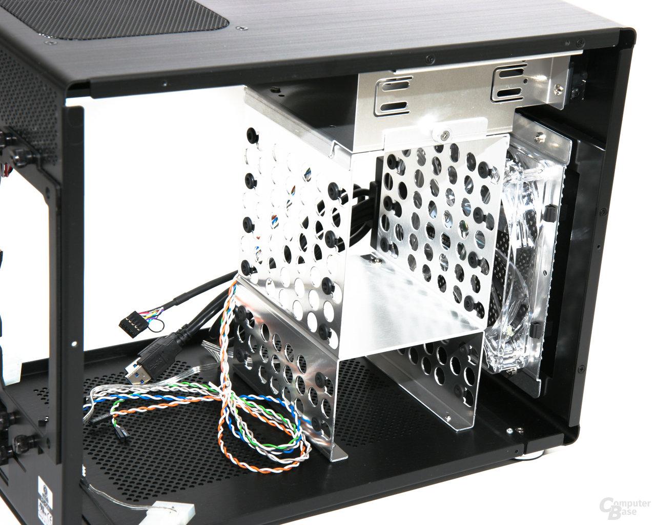 Lian Li PC-Q08 – Festplattenkäfige