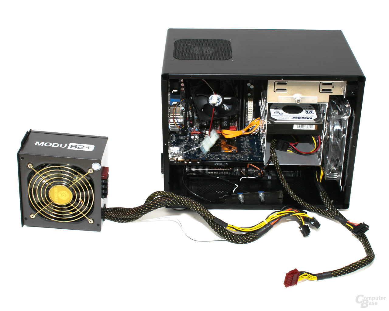 Lian Li PC-Q08 – Ausgebautes Netzteil
