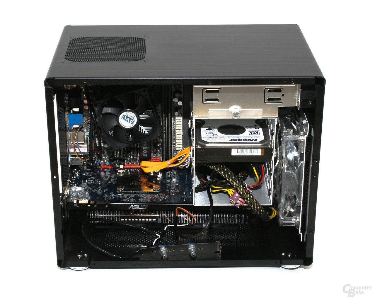 Lian Li PC-Q08 – Innenraum ohne Netzteil