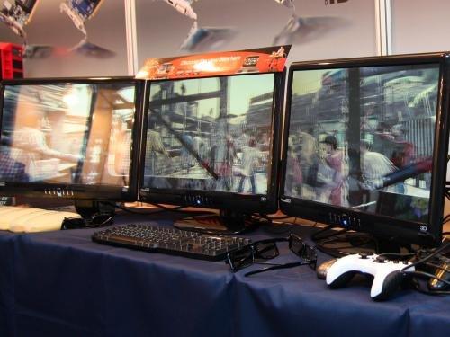 Sapphire zeigt 3D auf drei Monitoren