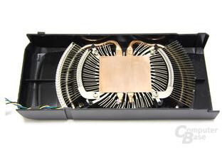 GeForce GTX 460 Kühlerrückseite