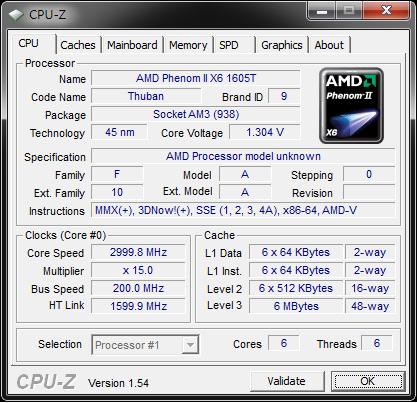 AMD Phenom II X4 960T freigeschaltet