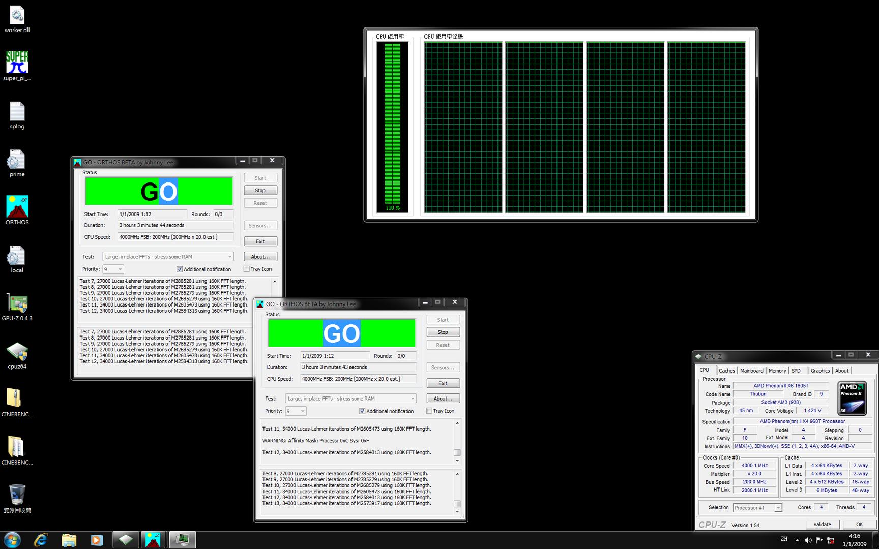 AMD Phenom II X4 960T bei 4 GHz