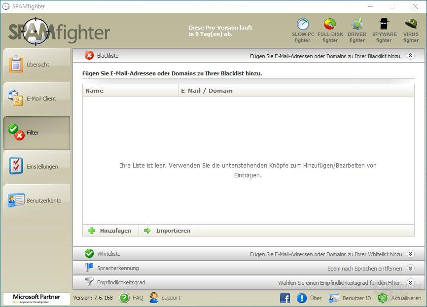 SPAMfighter – Filter