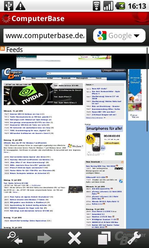 Oper Mini 5.1: ComputerBase