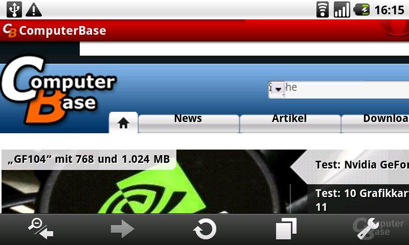 Oper Mini 5.1: ComputerBase (Zoom)
