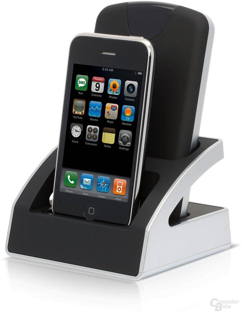 Buffalo Duali mit iPhone und Festplatte